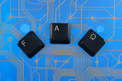 Keyboard keys laid out the word  faq Stock Images