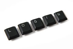 Keyboard keys - login Stock Image