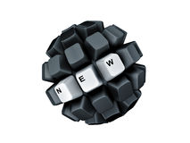 Keyboard keys new symbol sphere Stock Photos