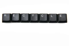 Keyboard keys - recycle Stock Photography
