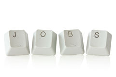 Keyboard  keys spelling jobs Royalty Free Stock Images