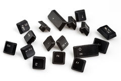 The keyboard keys on white background Royalty Free Stock Photography