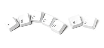 Keyboard keys writing touch me Royalty Free Stock Photos