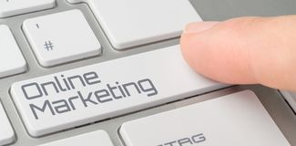 Online Marketing. A keyboard with a labeled button - Online Marketing royalty free stock image