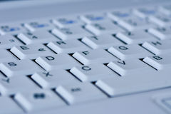 Keyboard of Laptop. White Keyboard of a Computer Stock Image