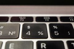 Keyboard of laptop by Apple, numbers royalty free stock images