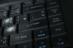Keyboard laptop. Keyboard laptop is black color Stock Photography