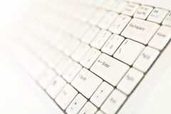 Keyboard laptop closeup Stock Photography
