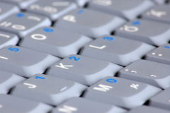 Keyboard of laptop computer Royalty Free Stock Image