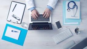 Keyboard Laptop Doctor royalty free stock image