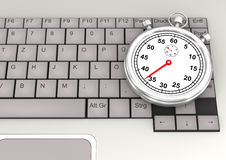 Keyboard Stopwatch Stock Image