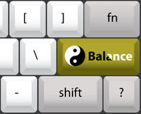 Keyboard layout with yin yan Royalty Free Stock Images