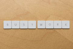 Keyboard Letters-Busy Work Stock Image