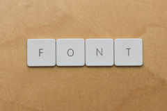Keyboard Letters-Font Stock Image