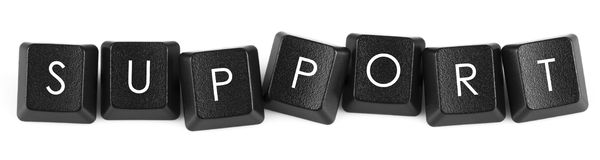 Keyboard Letters : SUPPORT Royalty Free Stock Image