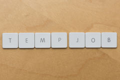 Keyboard Letters-Temp Job Stock Image