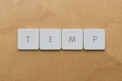 Keyboard Letters-Temp Royalty Free Stock Images