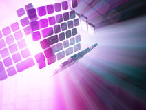Keyboard Light. Computer 3d keyboard element colored light abstract background Royalty Free Stock Photography