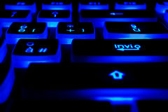Keyboard with light buttons Royalty Free Stock Images