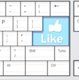 Keyboard with Like button Royalty Free Stock Images