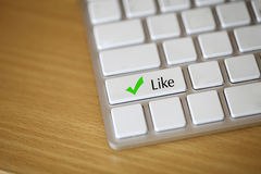 Keyboard Like button, social network Stock Photo