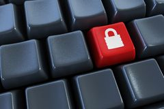 Keyboard with lock Royalty Free Stock Photos