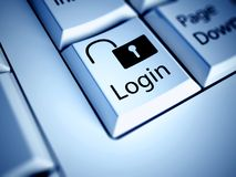 Keyboard and Login button, internet concept Royalty Free Stock Image