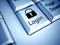 Keyboard and Login button, internet concept. Keyboard with Login button, internet concept Stock Photo