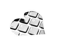 Keyboard love Stock Photo