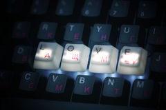 Keyboard love  key Royalty Free Stock Images