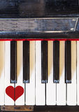 Keyboard love music Stock Images