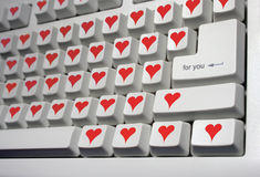 Keyboard for lovers Stock Image