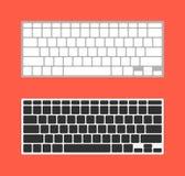 Keyboard mac computer desktop modern. Computer desktop modern key digital keyboard mac apple Stock Photography