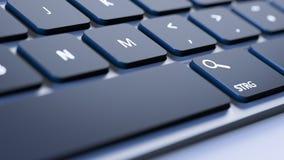 Keyboard magnifying glass Royalty Free Stock Photos