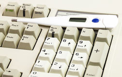 Keyboard in medical practice Royalty Free Stock Photos