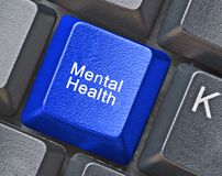 Keyboard for mental health Royalty Free Stock Photo