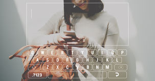 Keyboard Message Text SMS Concept Royalty Free Stock Photos