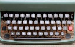 Keyboard of an metal typewriter Stock Photo