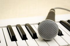 Keyboard and mic Royalty Free Stock Image