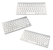 Keyboard of a modern laptop isolated on a white Royalty Free Stock Photography