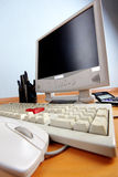 Keyboard and monitor Royalty Free Stock Photos