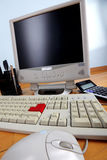 Keyboard and monitor Royalty Free Stock Images