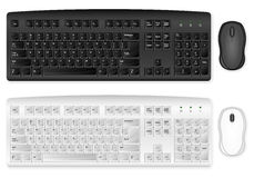 Keyboard and mouse Stock Images