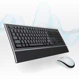 Keyboard and Mouse. Desktop computer with wireless keyboard and mouse