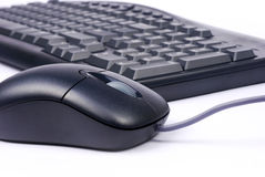 Keyboard and mouse. Computer keyboard and mouse with isolated background Royalty Free Stock Image