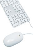 Keyboard and the mouse Stock Photography