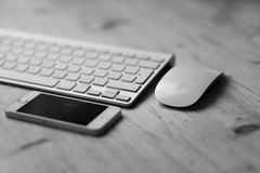 Keyboard Mouse And Smartphone Stock Images