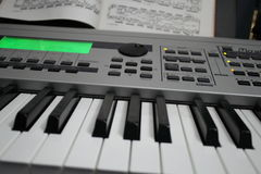 Keyboard and Music 01 Stock Photos