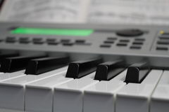 Keyboard and Music 02 Royalty Free Stock Images