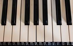 The keyboard music Stock Image